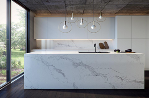 DL-19812 Calacatte/Calacatta Quartz Slab Kitchen Counter Top