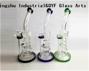 QYF09015---Pyrex Glass Bongs For Hemp Smoking