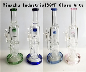 QYF09011---Pyrex Glass Bongs For Hemp Smoking