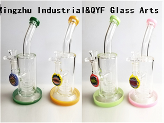 QYF09016---Pyrex Glass Water Pipes For Cannabis Smoking