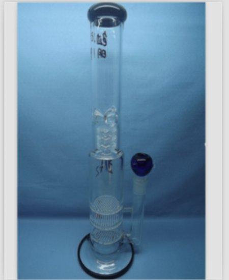 QYF2225-glass water pipes with honeycomb percolator for tobacco use
