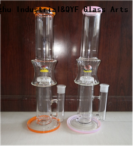 QYF25---Pyrex Bongs Made of US borosilicate 3.3 glass rods