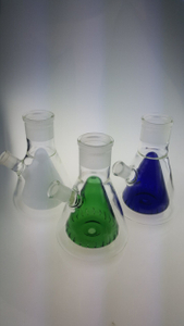 QYFBBB1-hand blown detachable glass bongs with double beaker base