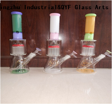 QYF26---Pyrex Bongs Made of US borosilicate 3.3 glass rods