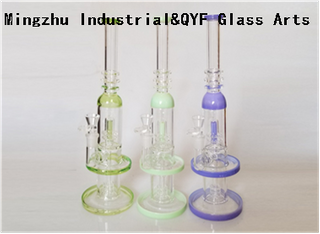 QYF09006---Pyrex Glass Bongs For Cannabis Smoking