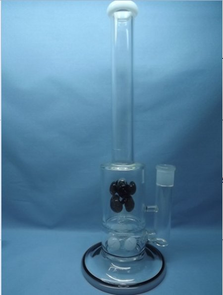 QYF2288-Pyrex Glass Smoking Water Pipes with Wind Chime Percolator