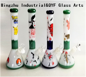 QYF09014---Pyrex Glass Bongs For Hemp Smoking
