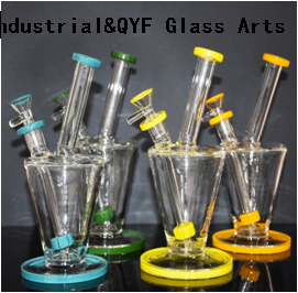 QYF11-Pyrex glass water pipes made by US color