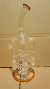 QYF2391--Percolator Glass Bongs with Water Recycler