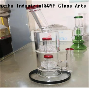 QYF28---Pyrex Bongs Made of US borosilicate 3.3 glass rods