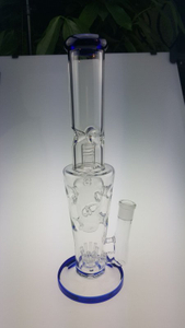 QYF2358- Double Functional Glass Water Pipes for Dry Herbs And Tobacco