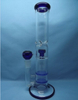 QYF2290-Best Selling Pyrex Glass Bongs with Honeycomb Percolator