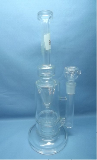QYF2245-Pyrex percolator glass bongs with water recycle