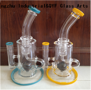 QYF24---Pyrex Bongs Made of US borosilicate 3.3 glass rods