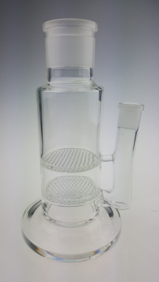 QYFBBB2-hand blown detachable glass bongs with honeycomb percolator